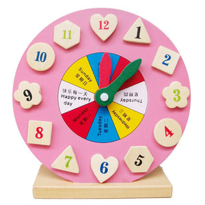 Montessori Wooden Toys Baby Weather Season Calendar Clock Time Cognition Puzzle Preschool Educational Teaching Aids Toys Kids