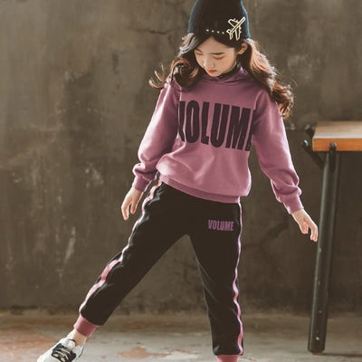 Girls Clothing Sets Autumn Winter Kids Long Sleeve Sweatshirts+Pants Suit Girl Outewear Children Clothes Set 5 7 8 9 10 12 Years