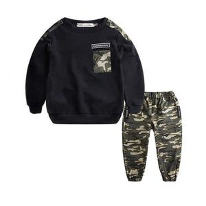 Autumn Kids Boys Camouflage Clothes Set Toddler Children Tops Pants 2PCS tracksuit Sports kit Outfit roupa infantil Wholesale