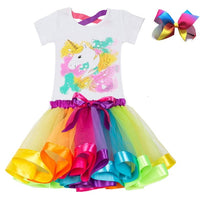 Unicorn Children's Clothing Sets Baby Girl Clothes Summer Princess Party Tutu Unicorn Costume Dress Kids Birthday Outfits Suits