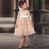 Autumn Lace Girls Dress Dresses Long Sleeve Princess Kids Girls Dress Flower Embroidery Dresses Kids Party Ball Gown Clothing