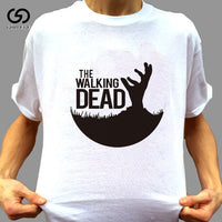 Men's Fashion Short Sleeve T-Shirt Summer The Walking Dead Walking Dead Beauty Drama English Print Europe and America