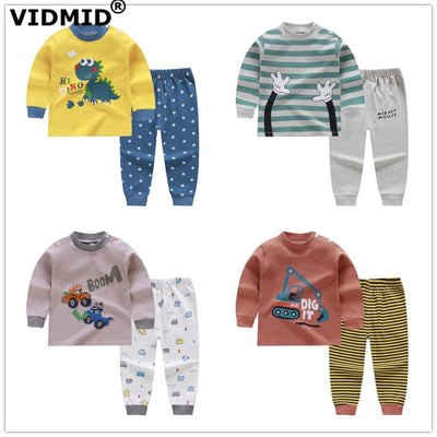 VIDMID Baby boys spring Clothing sets Long Sleeve t-shirt boys Clothes Sets cotton Kids Clothes for boys children's sets 7086 02