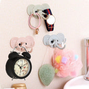 Exquisite Elephant Stick On Wall Adhesive Hooks Self Bathroom Hanging Door Kitchen Hanger Practical key holder wall Wholesale 70
