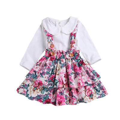 Newborn Kids Baby Girl Tops Princess Party Skirt  Outfits Clothes Autumn Spring Bottons Long Sleeve