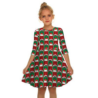 Newest Christmas Dress Girls Princess Dress Elegant Snowman Elk Print Party Dress for Kids Girls Dress Children New Year Outfits