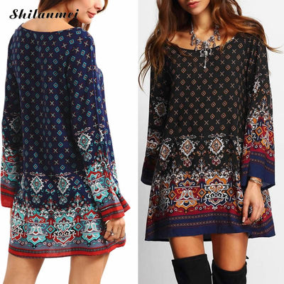 Women Desigual Indian dress 2018 summer style geometric printed baroque dress Vintage desigual dress causal beach dress vestido