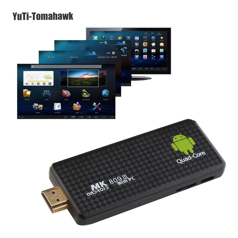 Quad Core MK809 III TV BOX Android 7 1 Smart TV Stick 2GB RAM 8GB ROM  Bluetooth WIFI XBMC HD Mk809III Mini PC Dongle