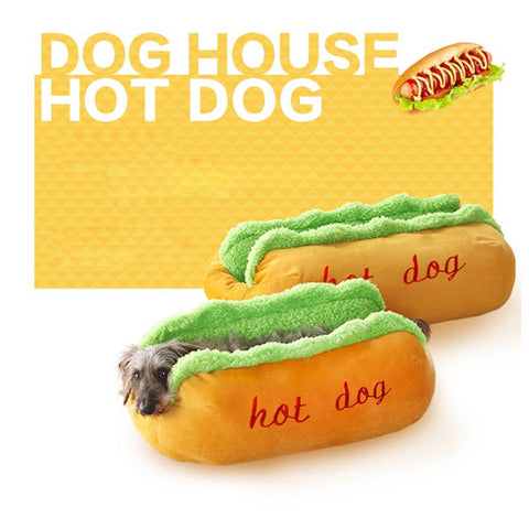 Hot Dog Dog Beds Removable Soft Mat Pet NEST