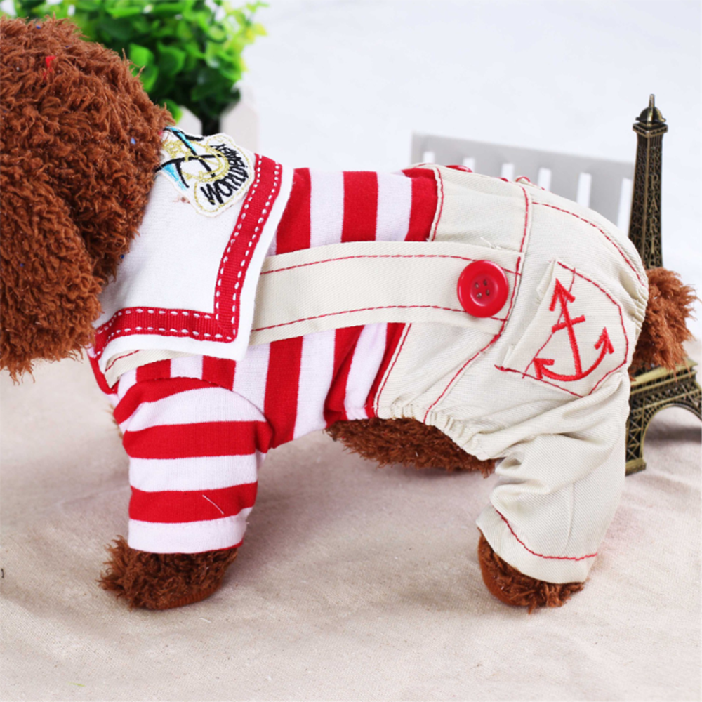 Cute personality navy style pet clothing