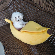 Kennel Banana Shape Cat Litter Winter Warm Pet Nest