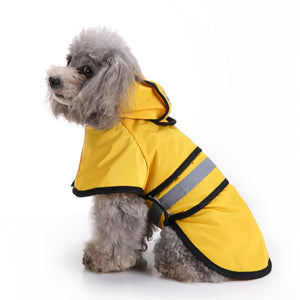 Pet Raincoats For Big Dogs Dogs Clothes Waterproof Dog Waterproof Poncho Big Rain Jacket High Quality