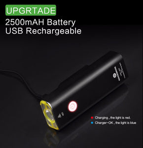 Rechargeable Bicycle Light Cycling Riding Waterproof Front Flashlight