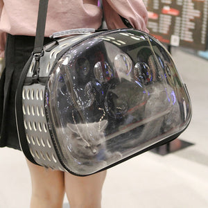 Summer Cat Dog Transparent Bag For Pets Carriers Durable Breathable Backpack Carry Folding Dog Outdoor Travel Supplies
