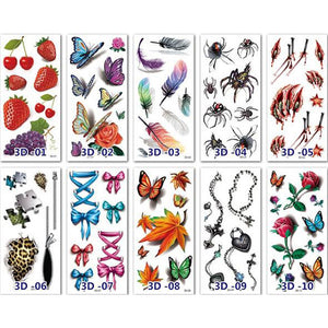 (10 PCS 50% OFF TODAY)Waterproof Temporary 3D Tattoo Sticker