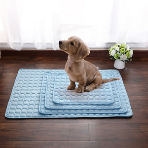 Pets Summer Cooling Mat 3 Size Pet Ice Pad Cool Cold Silk Moisture-Proof Cooler Sofa Mats Portable Tour Sleeping Pet Accessories