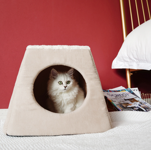 Luxury Pet Petshy Cat Nest Folding House Multi-Purpose Four Seasons Universal Small Dogs Cats Bed Sofa Cushion Puppy Kitten Cave