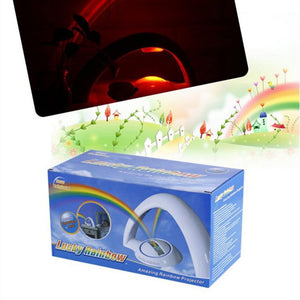 Novelty LED Colorful Rainbow Night Light Romantic Sky Rainbow Projector Lamp