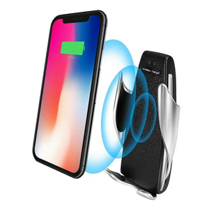 Car infrared sensor wireless charging phone holder