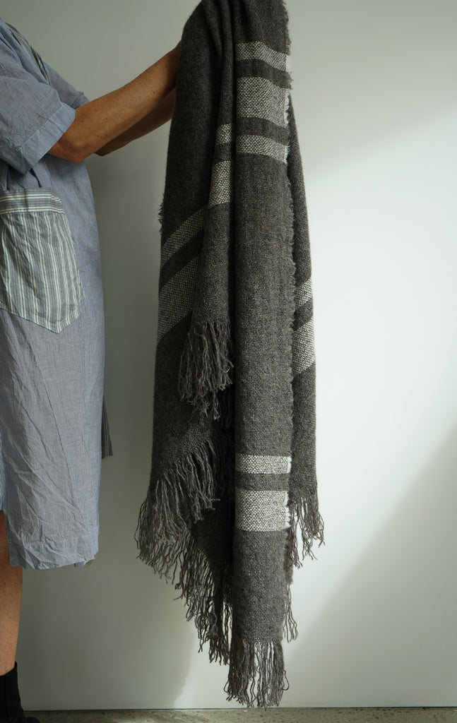 SITU BLANKET ECRU STRIPE