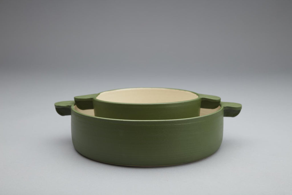 Handmade green pottery bowl, made in New York by Workaday Handmade for www.situstudio.co.nz