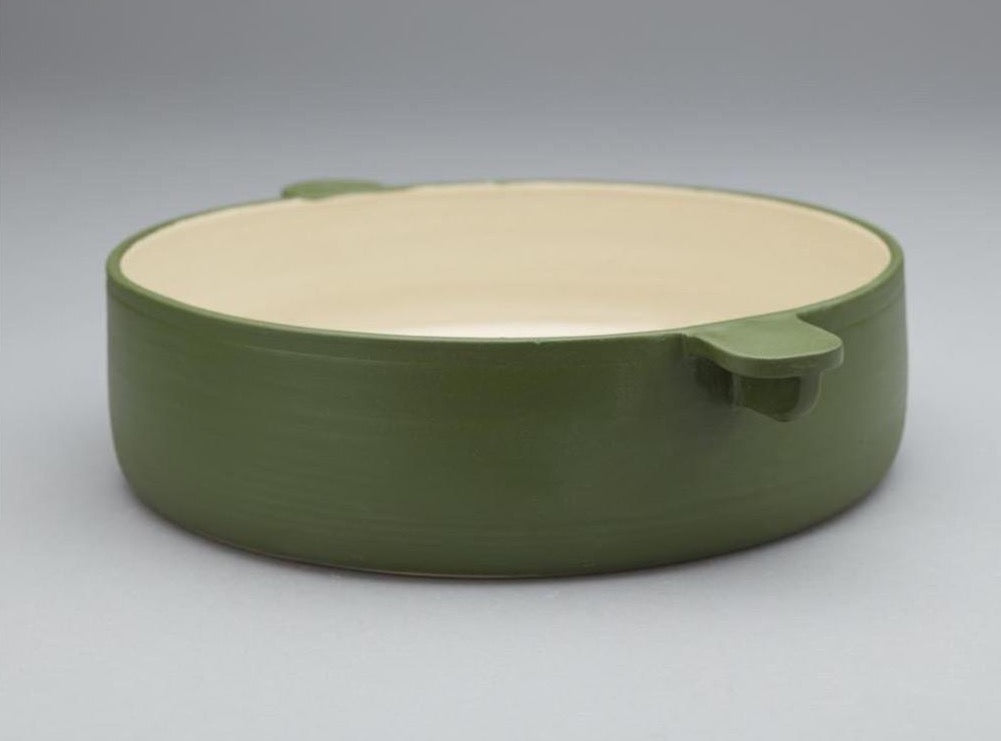 LARGE GREEN DISH