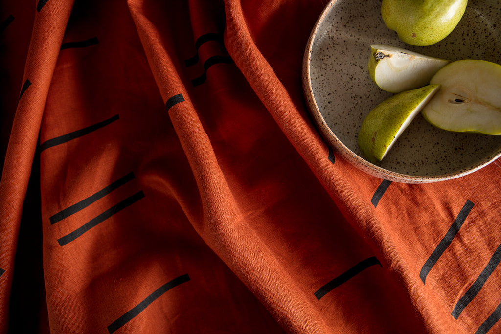 SITU LINEN THROW CLAY