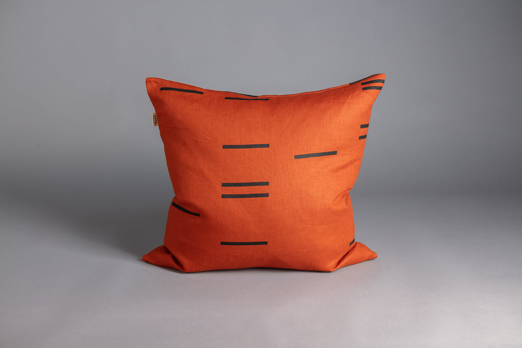 SQUARE CUSHION MODERN GEOMETRY CLAY