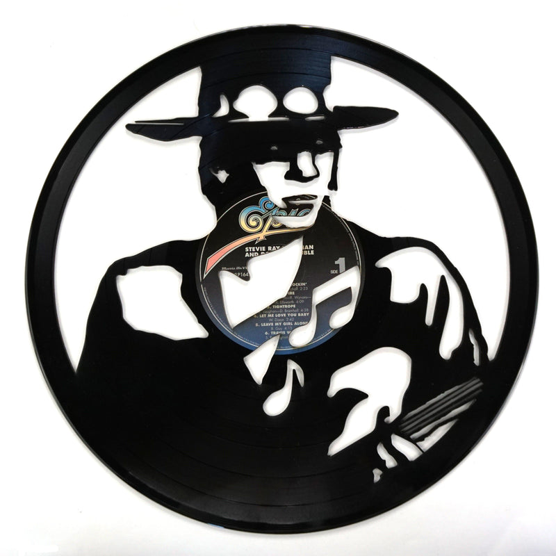 Stevie Ray Vaughan Vinyl Record Art - Deadwax1