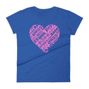 Women's Bassheart short sleeve t-shirt (Neon Pink)