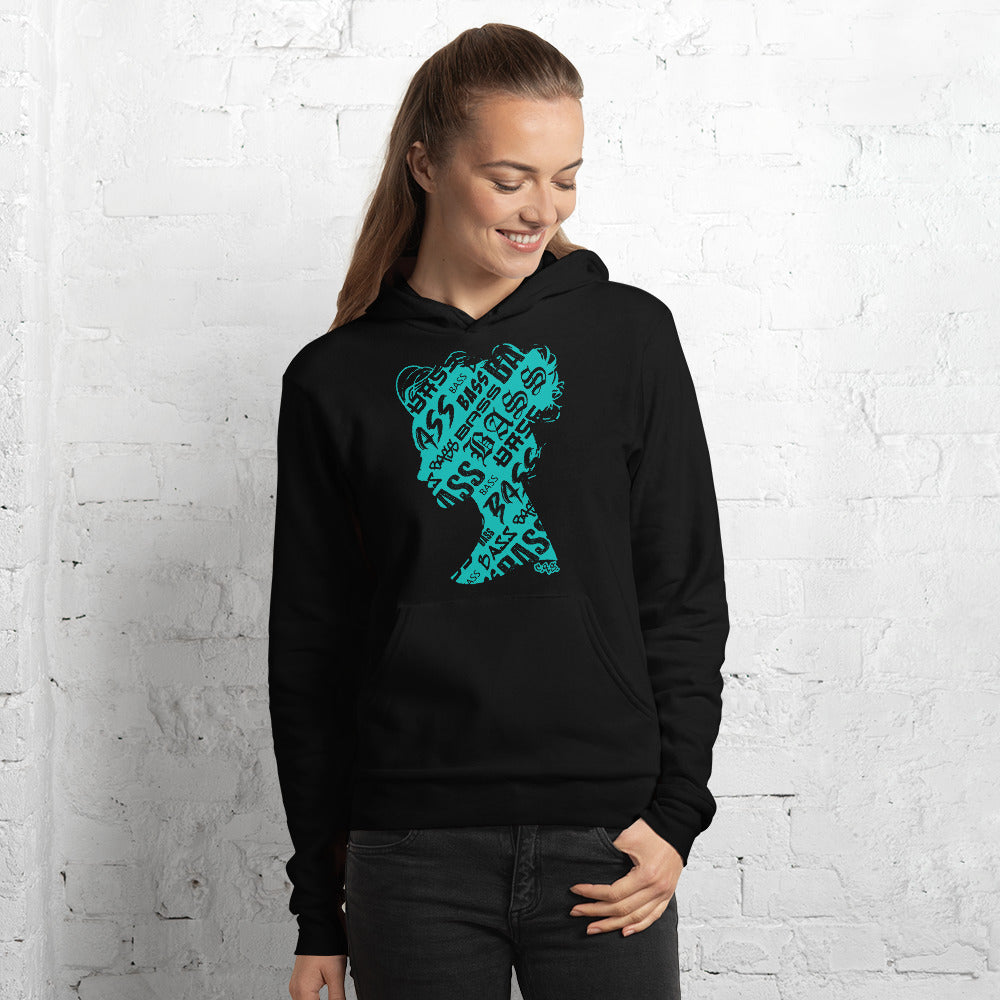 Bass Head Girl Unisex hoodie (Tiffany)