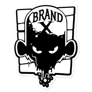 Brand X Face Bubble-free Die Cut Decals (Black)