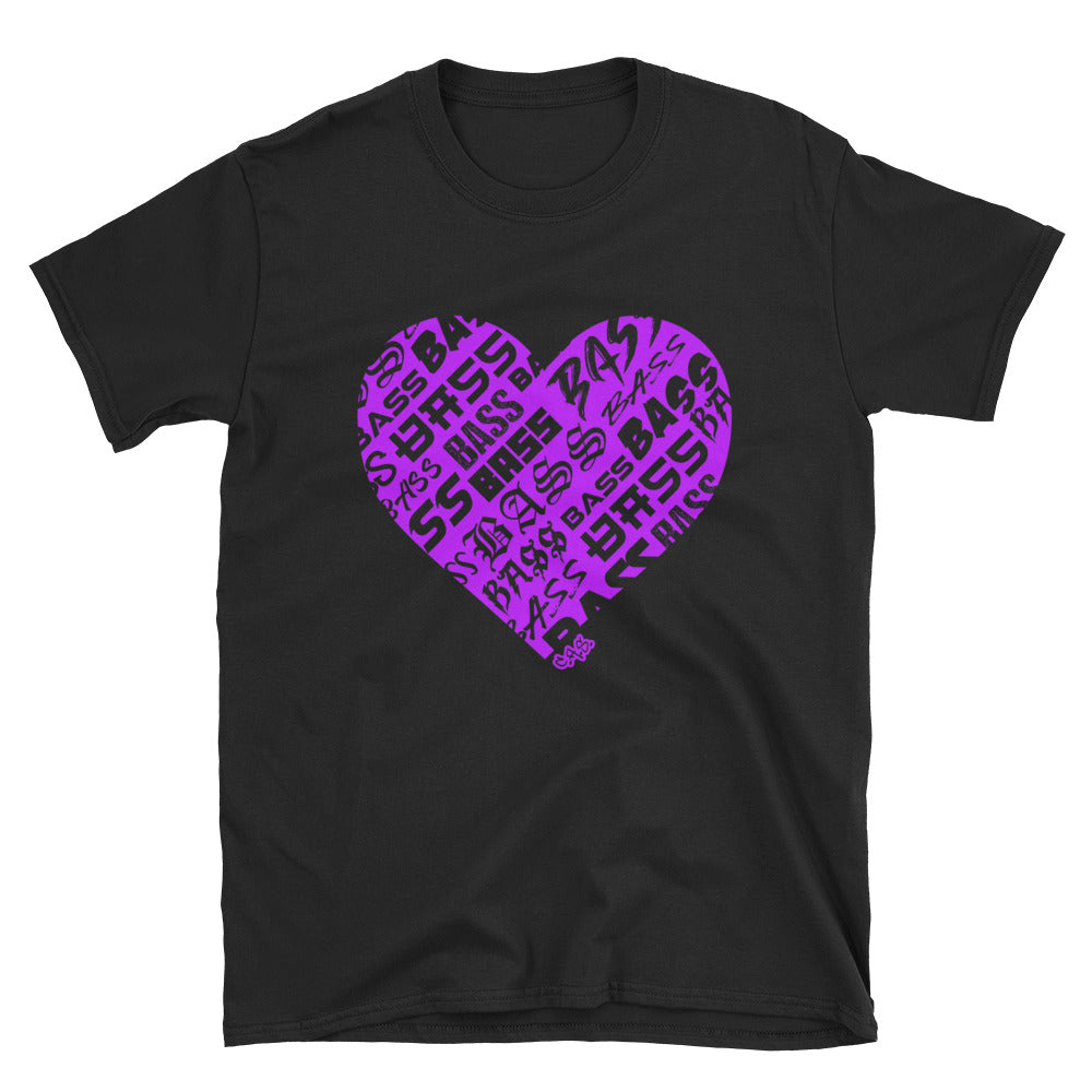 Car Audio Swag Bassheart Tee (Neon Purple)