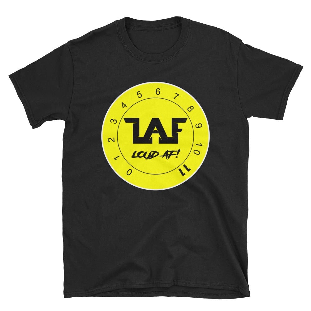LAF - Lange Audio Fabrication Loud AF Yellow Logo T-Shirt
