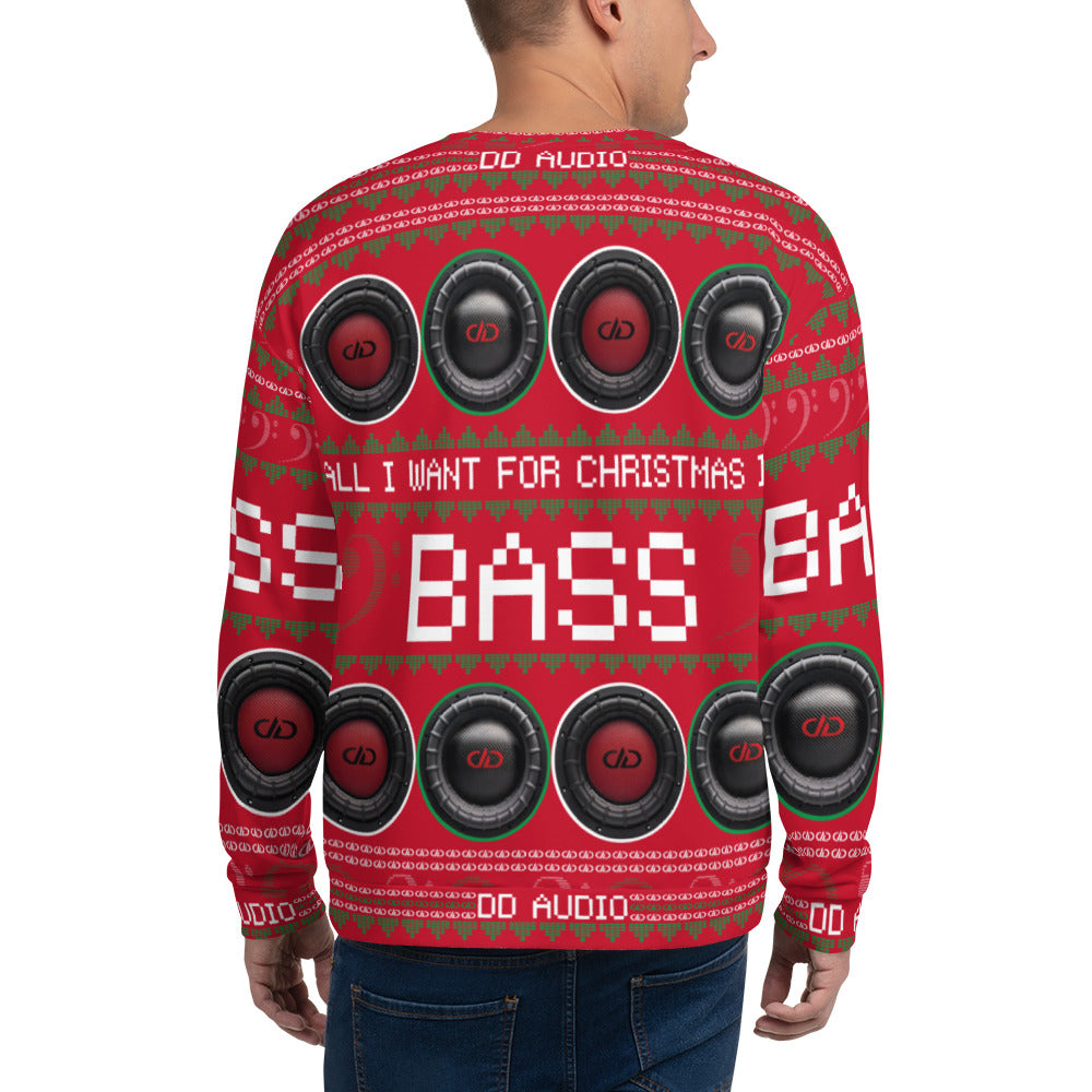 DD Audio Christmas Sweatshirt (Red)