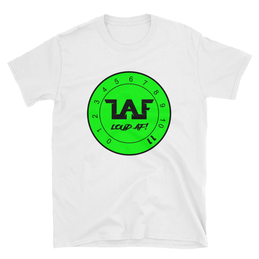 LAF - Lange Audio Fabrication Loud AF Neon Green Logo T-Shirt