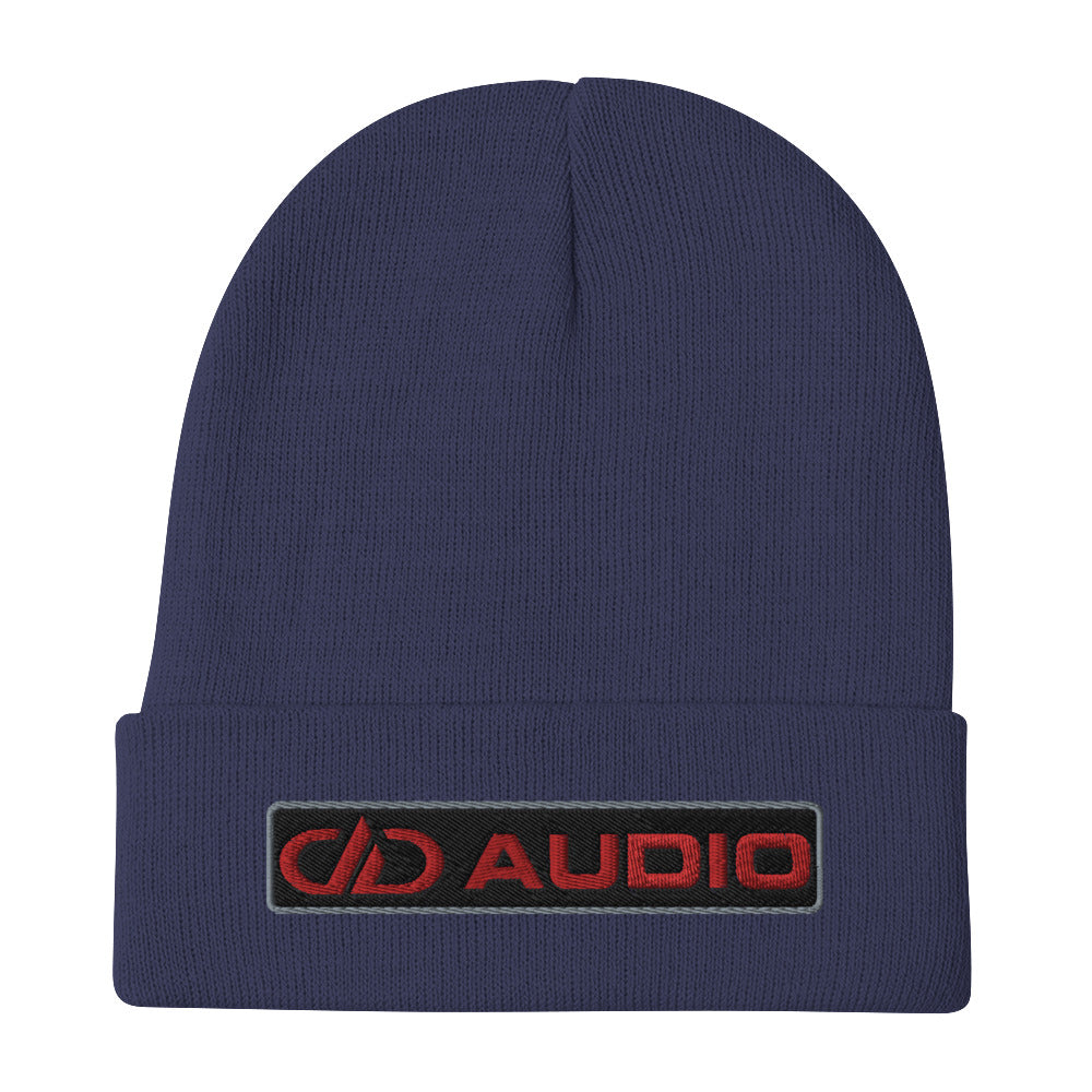 DD Audio Embroidered Cuffed Beanie (Navy/Red)