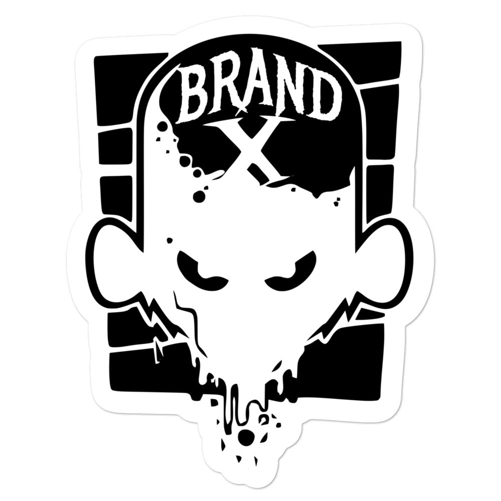 Brand X Face Bubble-free Die Cut Decals (White)