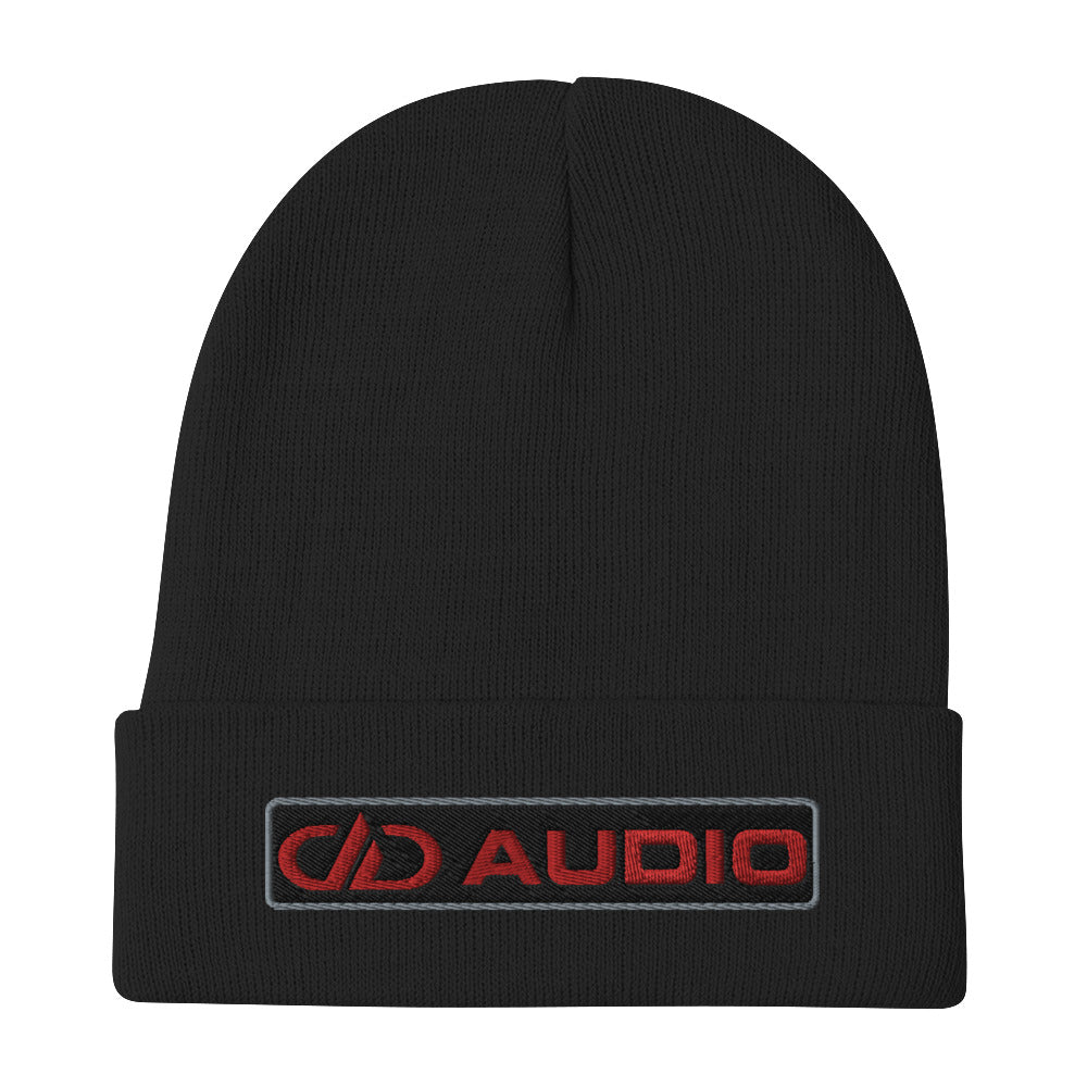 DD Audio Embroidered Cuffed Beanie (Black/Red)