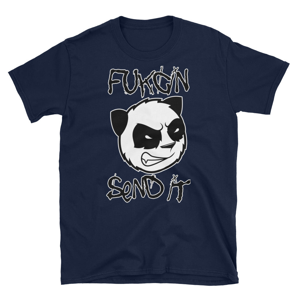 Fukcin Send It Panda T-Shirt