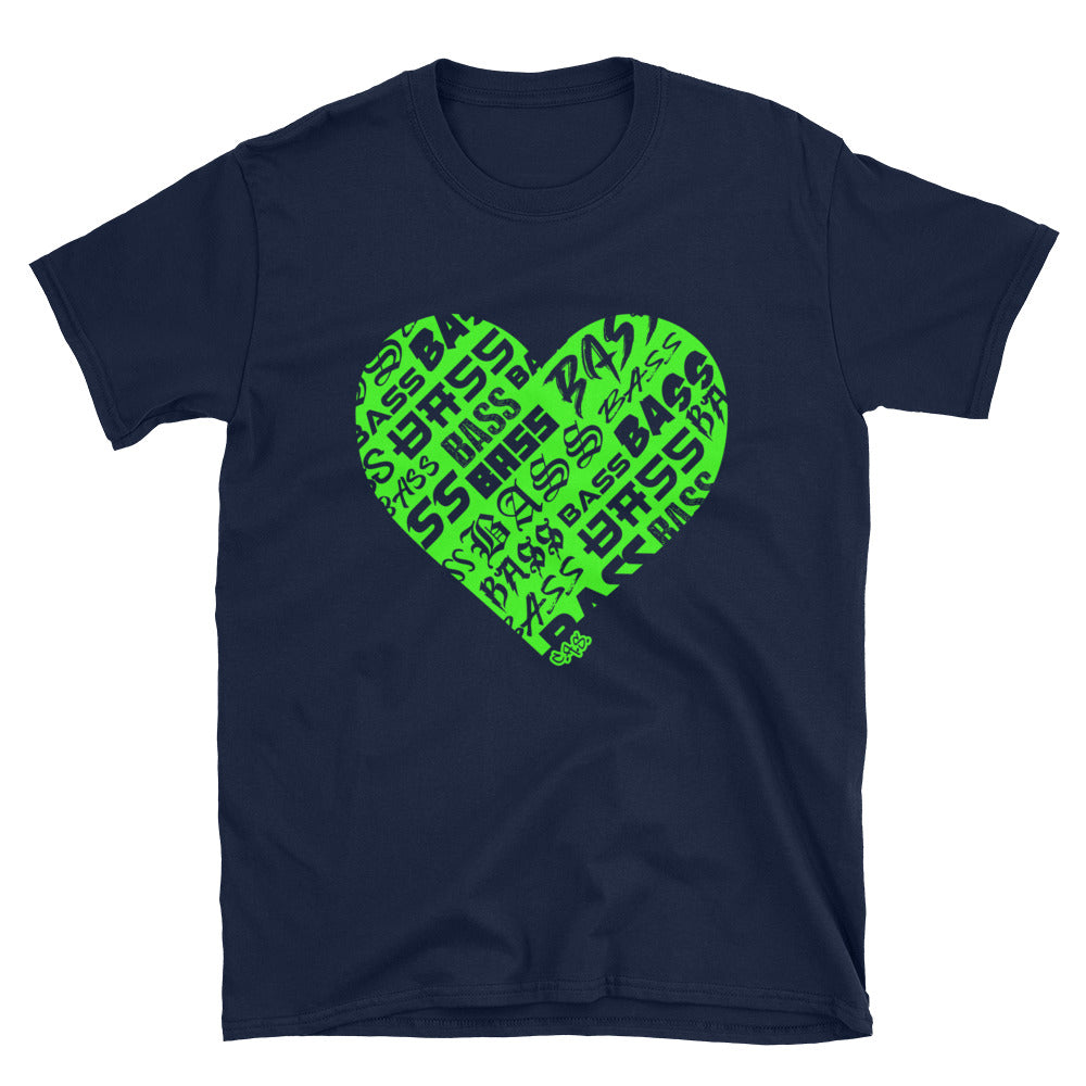 Car Audio Swag Bassheart Tee (Neon Green)
