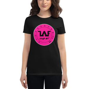 LAF Loud Af Pink Logo Women's short sleeve t-shirt