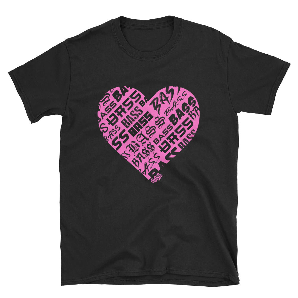 Car Audio Swag Bassheart Tee (Neon Pink)