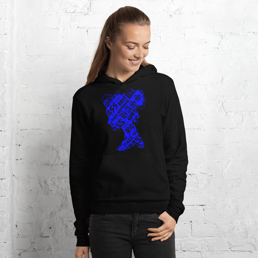 Bass Head Girl Unisex hoodie (Blue)
