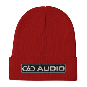 DD Audio Embroidered Cuffed Beanie (Red/White)