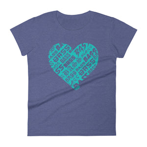 Women's Bassheart short sleeve t-shirt (Tiffany)