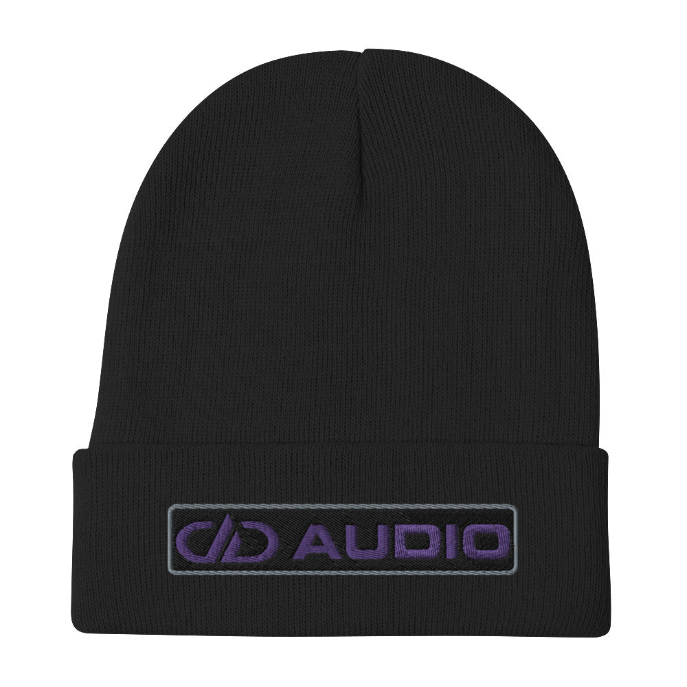 DD Audio Embroidered Cuffed Beanie (Black/Purple)
