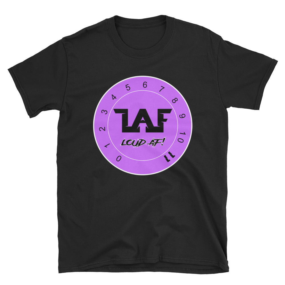 LAF - Lange Audio Fabrication Loud AF Purple Logo T-Shirt