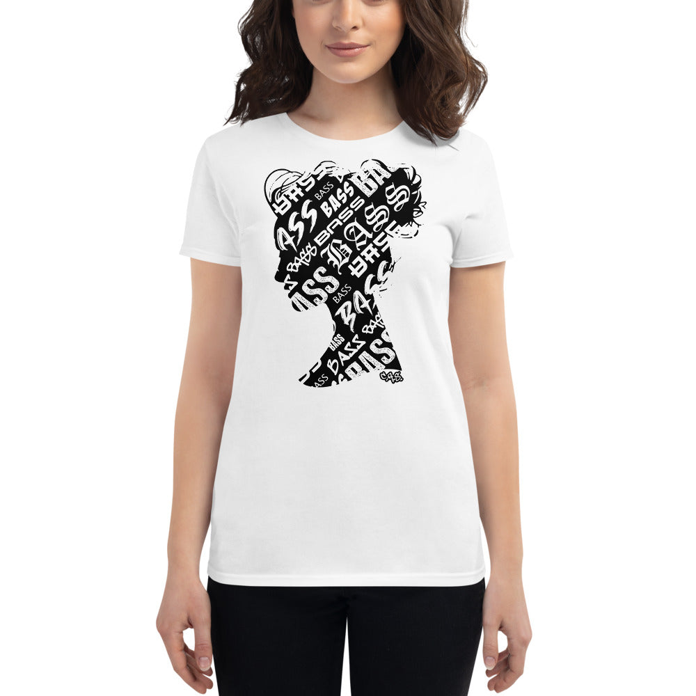 Bass Head Girl Ladies Cut Tee