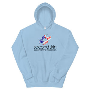 Second Skin Weathered Merica Logo Unisex Hoodie